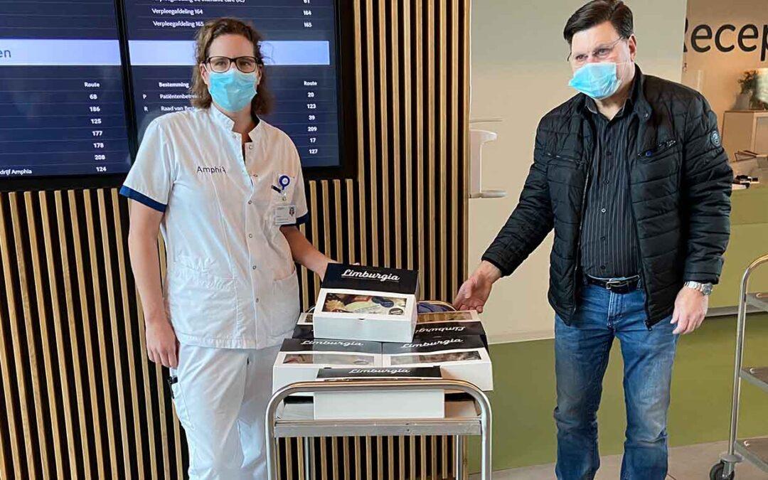 De Burcht schenkt zoet momentje aan IC personeel Amphia Ziekenhuis Breda