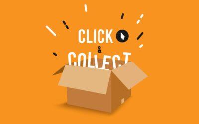 Winkels gedeeltelijk open voor Click & Collect